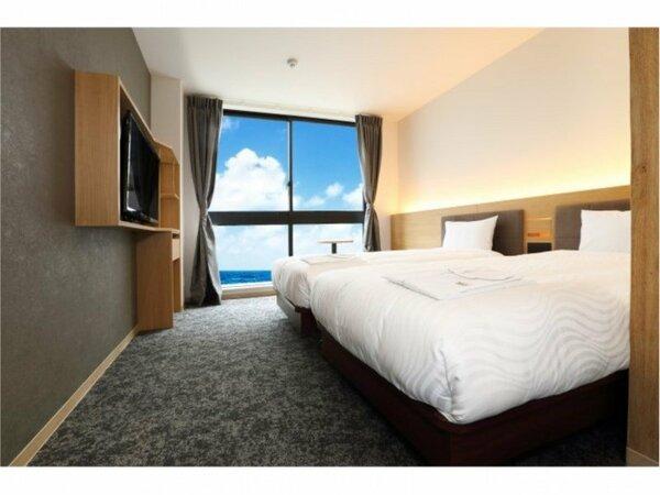 ◆ツインルーム◆全室にフランスベッドを使っております。ご友人同士のお客様にオススメです♪