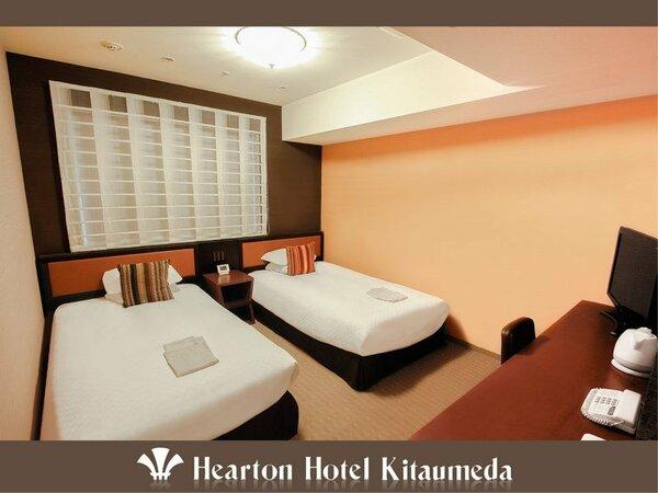 ■ツインルーム:110cm×198cm×2ベッドをご用意。