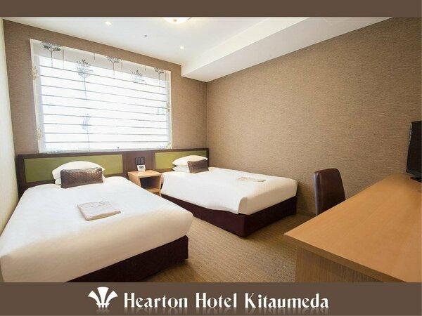 ■ツインルーム:110cm×198cm×2 ベッドをご用意。