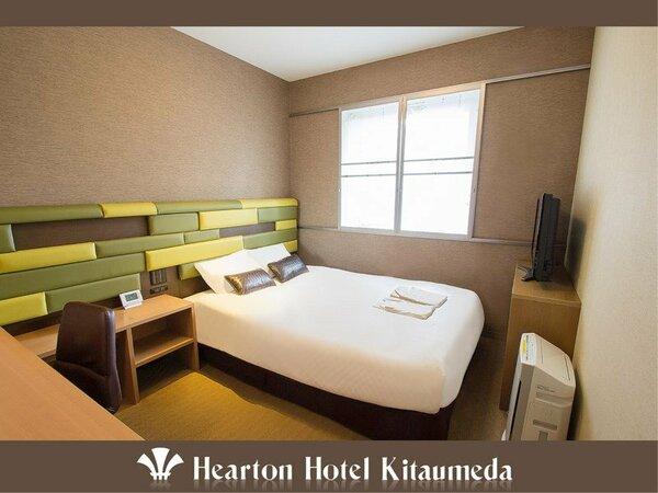 ■セミダブルルーム:140cm×198cm (シモンズ社製)のベッドをご用意。