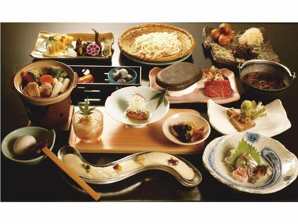 料理の一例(イメージ)奥信濃の豊かな自然に育まれた新鮮な地野菜のうま味の強い食材を生かした和食会席