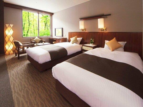【ツインルーム】奥入瀬渓流を旅する方が気軽にお過ごしいただけるお部屋