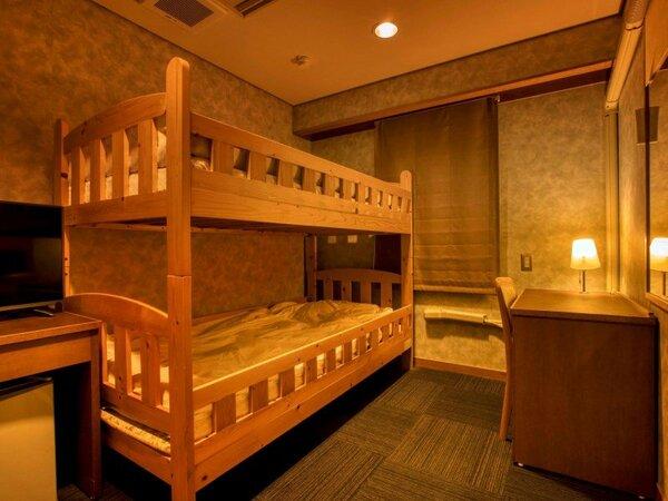 洋室二段ベッド(山側・トイレ風呂洗面なし) ※客室の一例