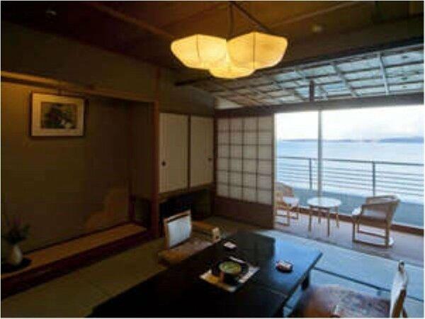 全室オーシャンビュー「白鷺亭」、お部屋からは海が目の前!
