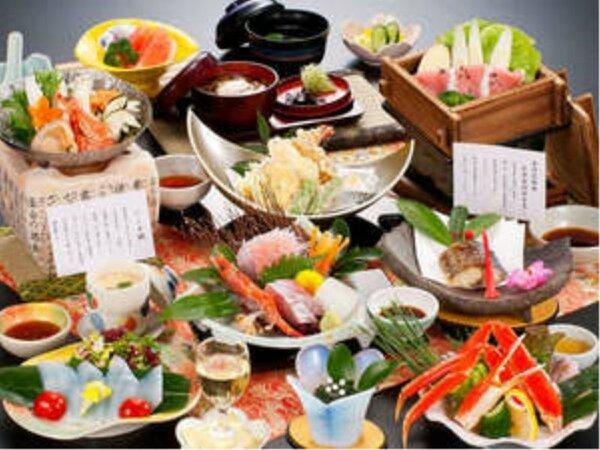 海の幸満載!ご宴席を彩るお料理の一例。