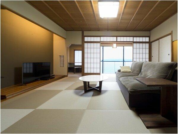 和洋室・オーシャンビュー(本間13畳+ツイン+広縁)の客室一例