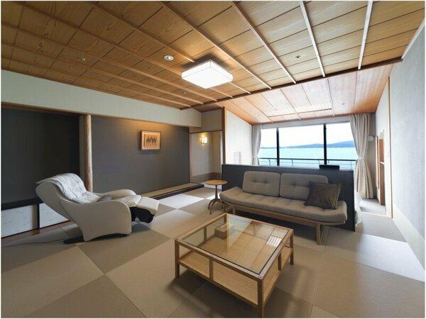 和室・オーシャンビュー(本間12畳・ツインベッド)の客室一例