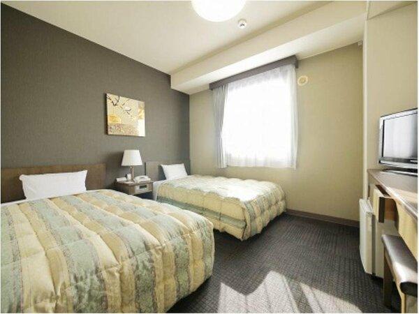 【ツインルーム】ベッドサイズ120×196(cm)全室無料インターネット回線完備