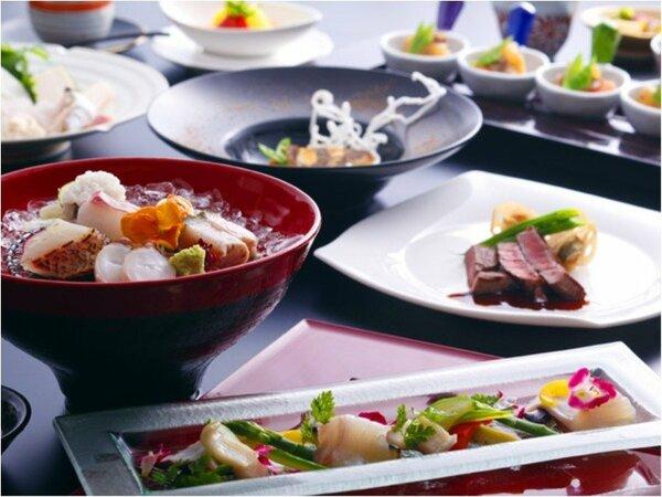 和食にフレンチのテイストを織り込んだプラザ淡路島ならではの和洋折衷会席≪料理イメージ≫