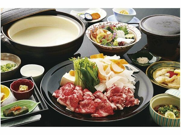 淡路牛と茶美豚の豆乳しゃぶしゃぶイメージ(料理イメージ)