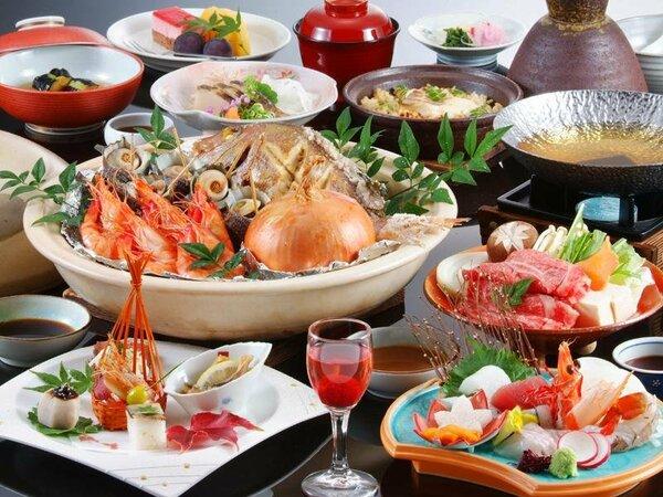 ご夕食は旬の山海の幸を使用した御食国「淡路島」の会席料理(イメージ写真)