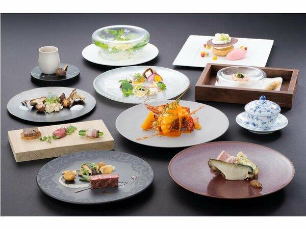 料理の一例(イメージ)デギュスタシオン/三重の食材を主役にした総料理長こだわりコース