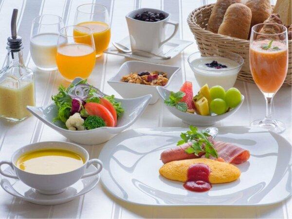 アルティア特製アメリカンブレックファーストで健康的な朝食を♪