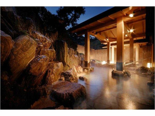 湯処「常若の湯」大浴場、パールオーロラ風呂、露天風呂をご利用いただけます。