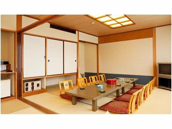 純和室のしつらいも清々しい落ち着きある潮路亭のお部屋。