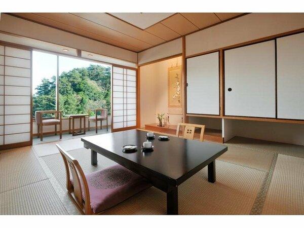 純和室のしつらいも清々しい落ち着きあるお部屋。