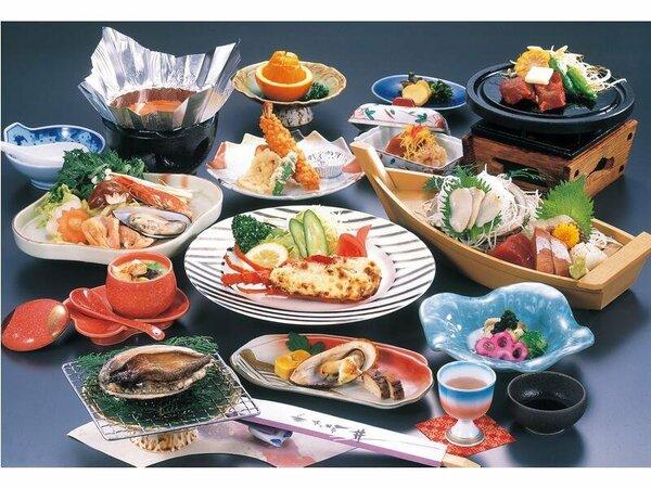 料理の一例(イメージ)当プラン料理(イメージ)鮑の踊り焼き・国産牛陶板焼き付会席