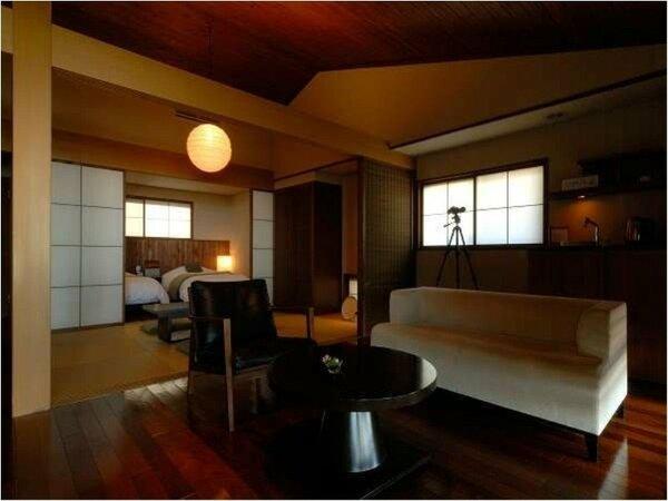 ■客室の一例■10室全てが海に面しており、露天風呂とウッドデッキを備えております。