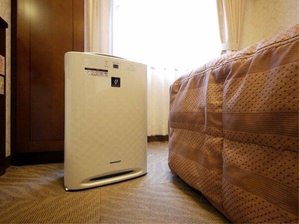 全客室に、加湿空気清浄機を導入致しました。