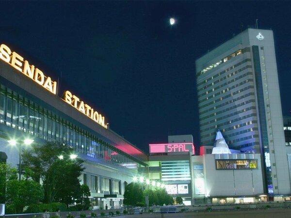 仙台駅徒歩1F。ビジネスにも観光にも便利な立地