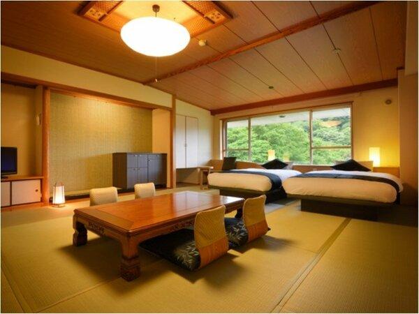 ゆったりとした客室が作り出す和の心地よさへ「天宝12帖和洋室~禁煙~」