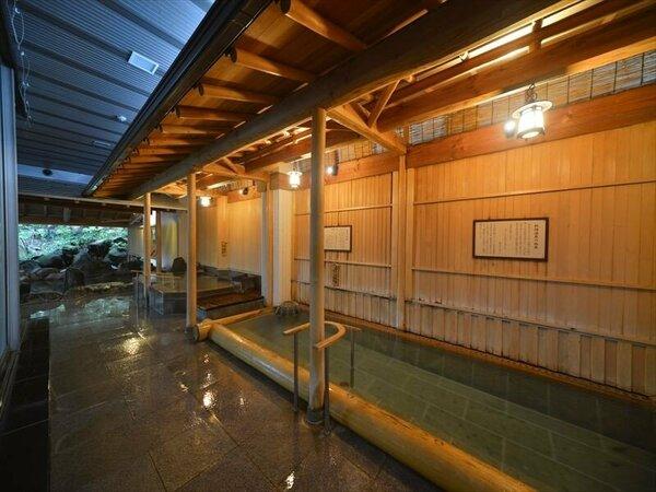 檜丸太風呂