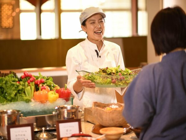 地野菜もたっぷり味わえる料理長厨房ビュッフェ青海波