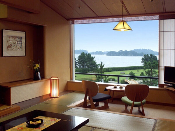 【なごみスタイル眺望和室】一例。全室日本三景をのぞむオーシャンビュー。