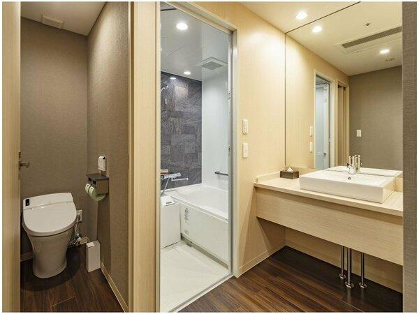 バス・トイレ・洗面台の3点を独立したお部屋もご用意しており、ご好評いただいております。