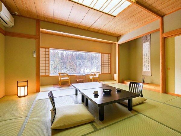 【(4名以上)標準和室】客室は落ちついた雰囲気の純和風建築のつくりです。