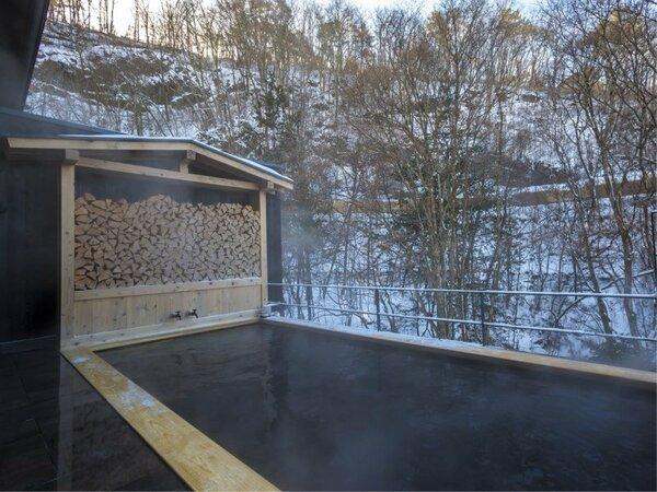 大浴場直結の露天風呂:冬は雪見風呂としても愉しめます
