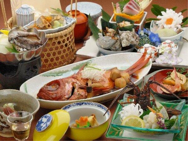 春から初夏の目玉プランの料理!人気の鮑・伊勢海老・金目鯛が付いてます