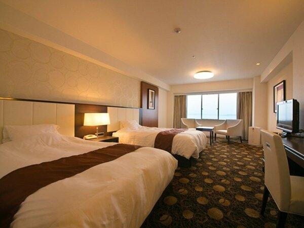 【10Fリニューアル客室】寝心地をさらに追求した寝具が人気。