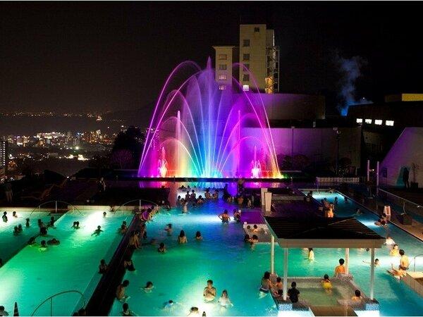 【ザ アクアガーデン】噴水ショー毎日開催中!