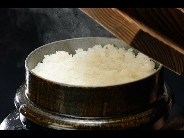 【朝食】炊き立ての山形県産米はえぬき