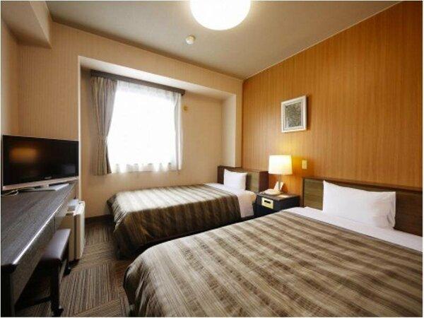 【ツインルーム】ベッドサイズ120×200(cm)全室無料インターネット回線完備