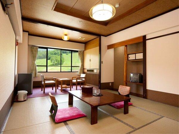 【<禁煙>ゆったりくつろげる和室8畳】水上高原の大自然を一望できる8畳の和室です。