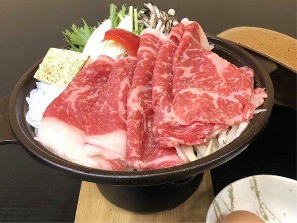 【すき焼き会席】 上州牛と彩り野菜を味わい尽くす!