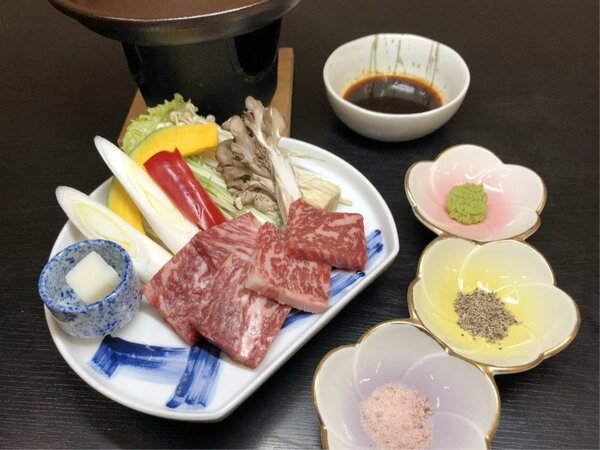 【上州牛ステーキ会席】 当館人気NO.1!上品な甘みとゆたかな風味♪とろけるお肉