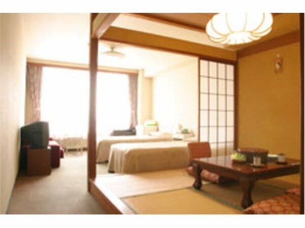 客室の一例(和洋室/イメージ) 本館2階~4階のお部屋で窓は南側に面しています