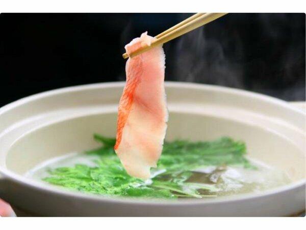 金目鯛のしゃぶしゃぶ(イメージ) 金目鯛の素材の味をお楽しみいただけます。