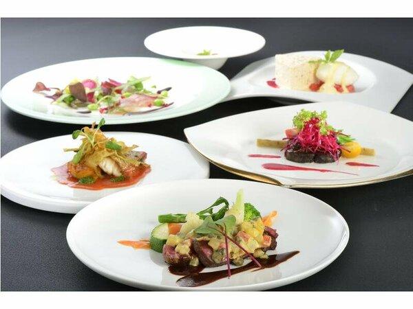 料理の一例(イメージ)本格的フレンチ(基本)旬の食材を使い「心と体にやさしい」をテーマにした料理。