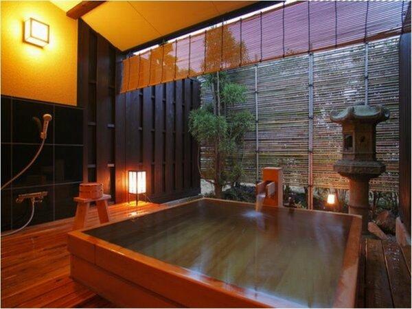 人気の貸切露天風呂「貫一の湯」