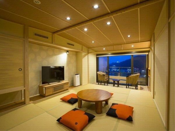 2017年7月リニューアル。デラックスルーム和室タイプ。熱海の街並みを満喫できるお部屋です。【禁煙】
