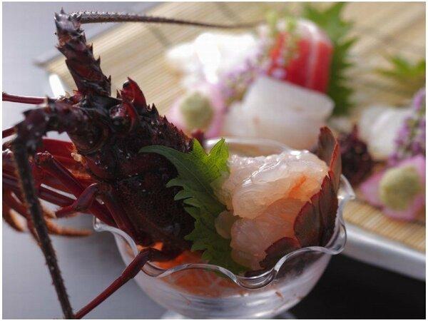 伊勢海老は海の味覚の王様。ぷりっぷりっの食感と芳醇な甘さをお楽しみ下さい。