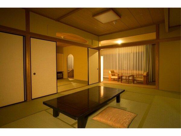 禁煙の17.5帖タイプの和室。お子様連れ、グループ旅行におすすめのお部屋タイプです。