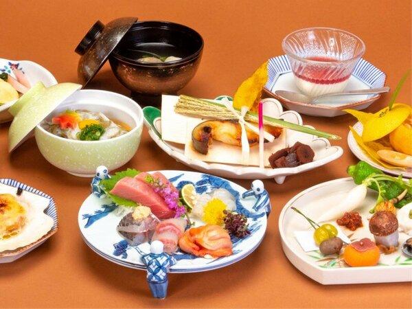 会席料理(秋)/旬の素材を活かした全13品程からなる会席料理をごゆっくりお召し上がりください。