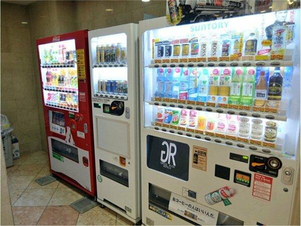 【自動販売機】  ノンアルは1階と7階、アルコールは1階のみにございます。