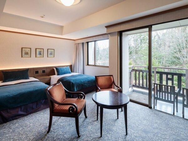 ■スタンダードツインルームの一例 ※お部屋により、間取りやインテリアのイメージが変わります