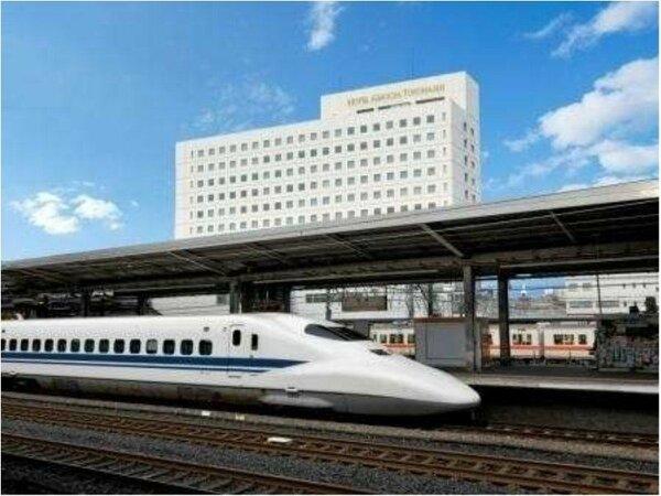 【外観】JR・名鉄豊橋駅と直結なので出張やご旅行に便利なホテルです。